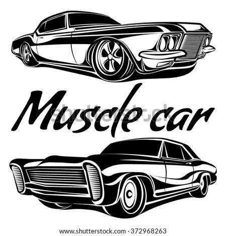 Royalty Free Stock Photos And Images Muscle Car Vector Poster