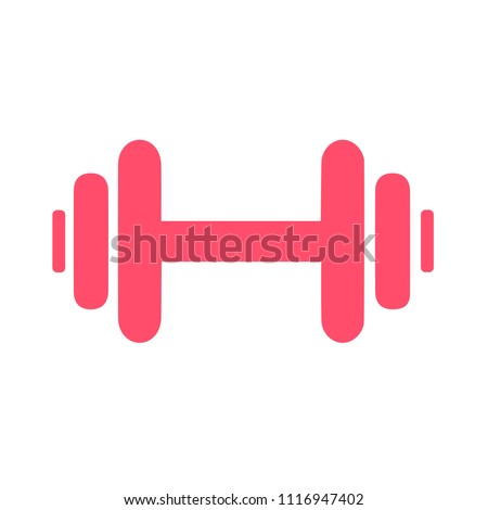 muscle lifting icon, fitness barbell, gym icon, exercise dumbbells isolated, vector weight lifting symbol