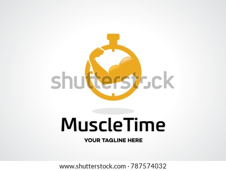 muscle time logo template