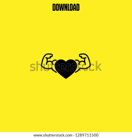 muscular icon vector. muscular vector graphic illustration