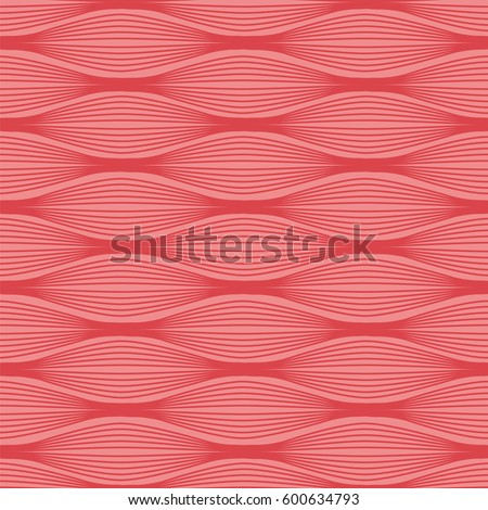 Muscular tissue seamless pattern. Stock vector illustration of muscle cells in rows. Medicine and biology collection