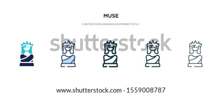 muse icon in different style