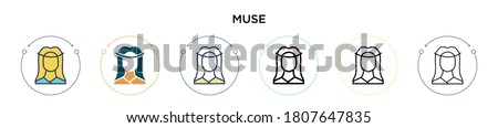 muse icon in filled  thin line
