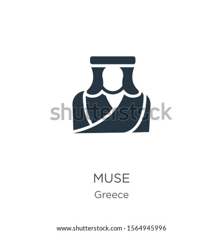 muse icon vector trendy flat