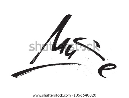muse lettering isolated on