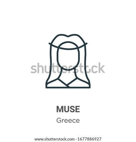 muse outline vector icon thin