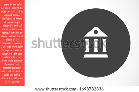 museum icon vector eps 10,museum icon vector lorem ipsum flat design museum for paintings museum museum icon vector for people