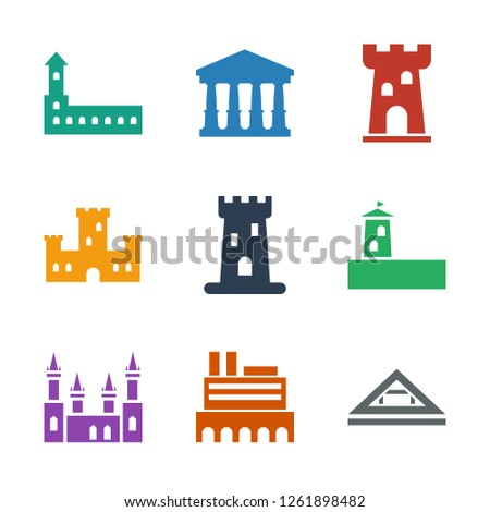 museum icons. Trendy 9 museum icons. Contain icons such as Louvre, castle, court. museum icon for web and mobile.