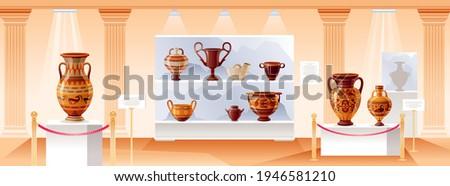 museum interior vector ancient