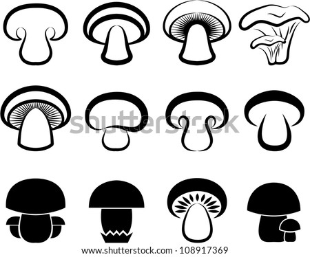 mushroom - stock vector