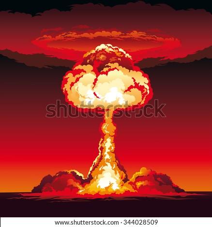 mushroom cloud of nuclear