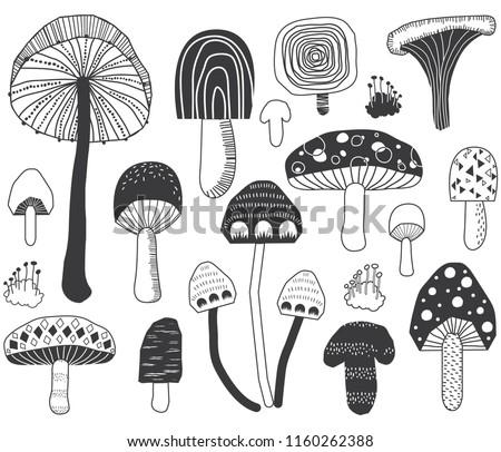 Mushroom Doodle Set