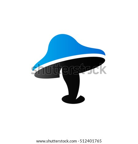 mushroom icon in duo tone color