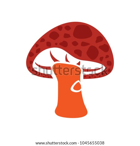 Mushroom icon, vector vegetable illustration, healthy food