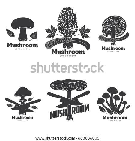 mushroom logo templates for