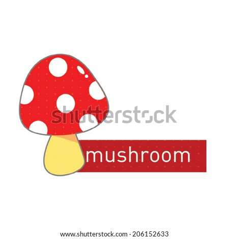 mushroom shaped sticker icon