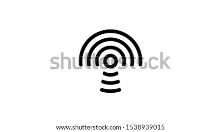 Mushroom wireless icon, Wireless icon vector,