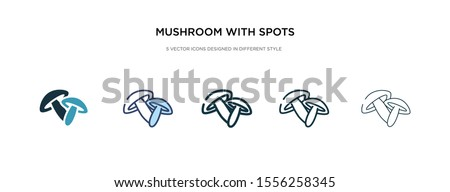 mushroom with spots icon in