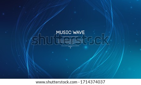 Music abstract background blue. Equalizer for music, showing sound waves , music background equalizer vector concept.