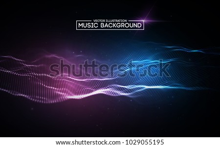 music abstract background blue