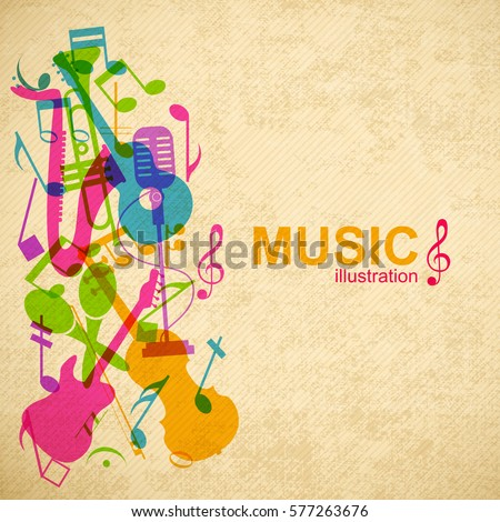music abstract background with
