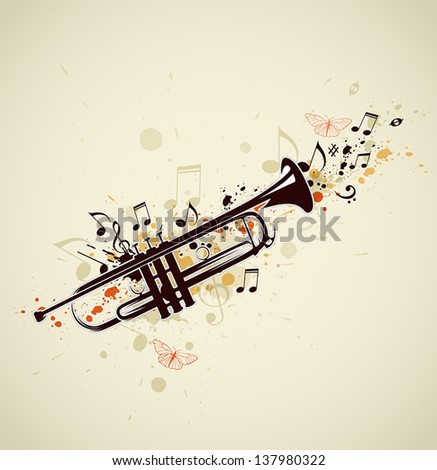 music abstract background with...