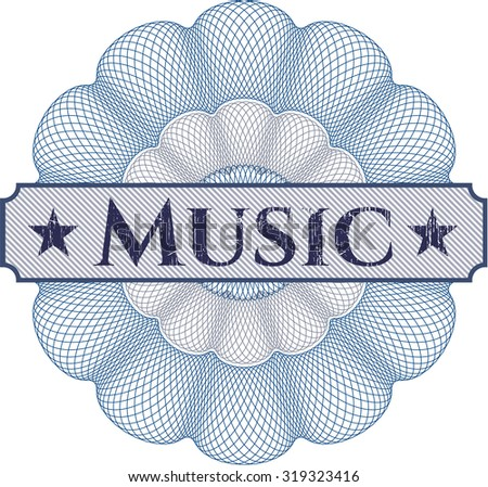 Music abstract linear rosette