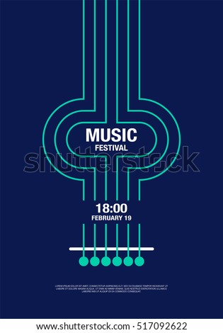 music abstract modern poster