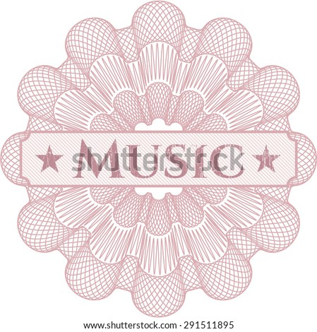 Music abstract rosette