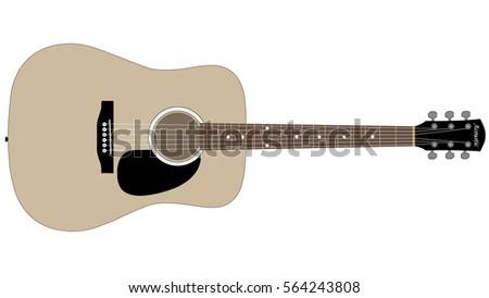 acoustic guitar download free vector art stock graphics images rh vecteezy com acoustic guitar vector outline acoustic guitar vector outline