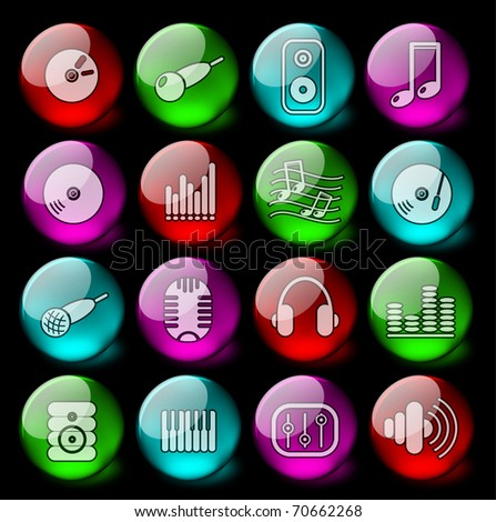 Music and audio vector icons - EPS10
