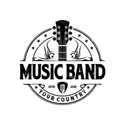 Music and band classic logo