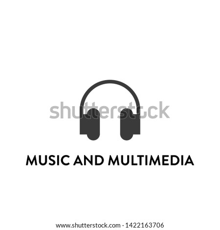 music and multimedia icon vector. music and multimedia vector graphic illustration