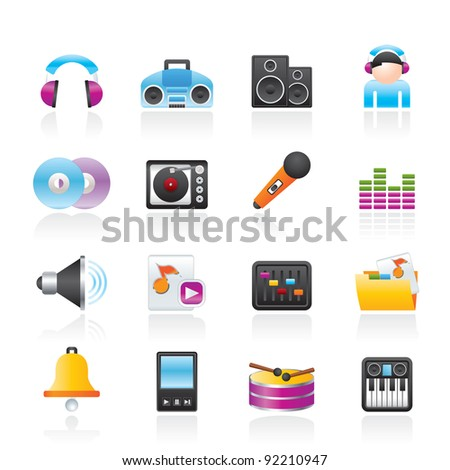 Music and sound Icons Vector Icon Set