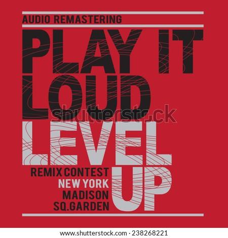 music audio typography  t shirt