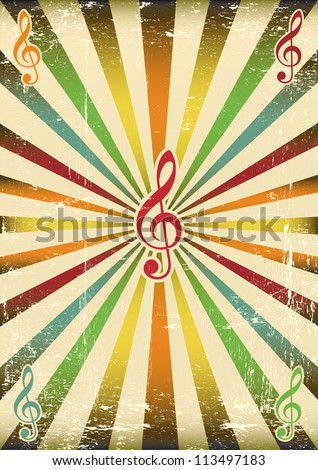 Music background. A musical background for your concert - stock vector