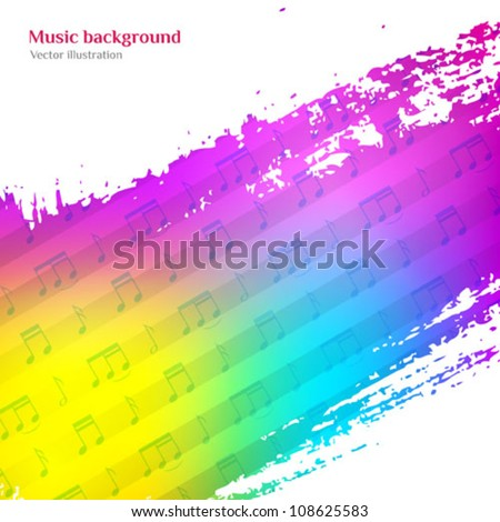 Music background. Colorful vector illustration. CD cover design template