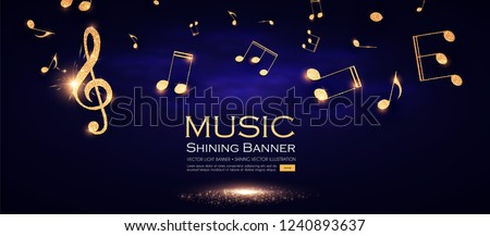 music background gold shining
