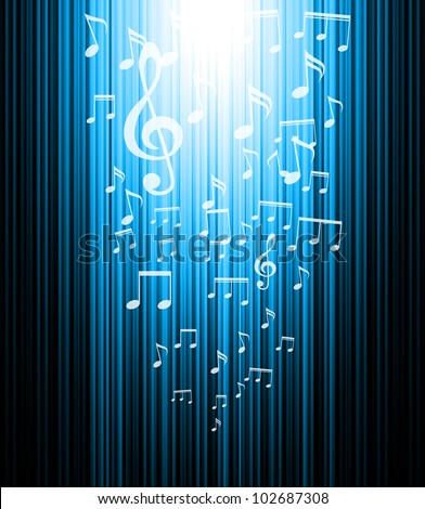 Music background. Line and rectangles shine vertical background.