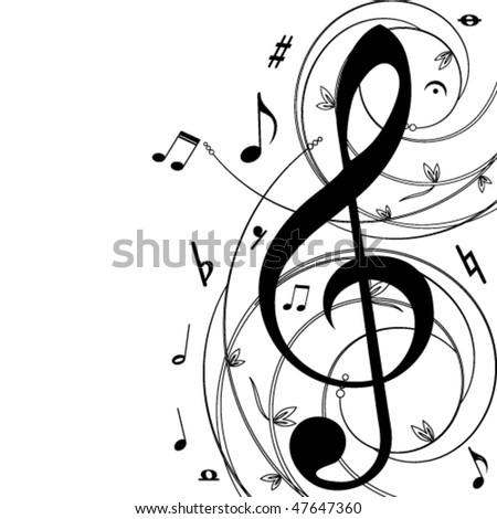 Music  Background - vector - stock vector