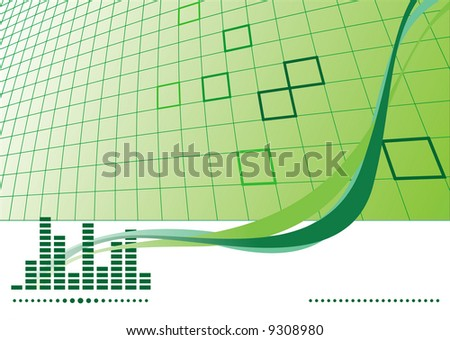 Music background with equalizer. Vector illustration