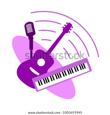 music band concept vector