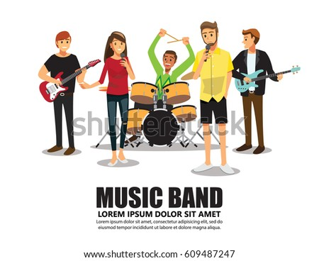 music band on stage