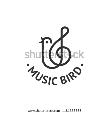 music bird and treble clef