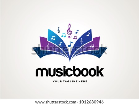 music book logo template design