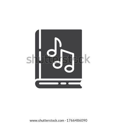 music book vector icon filled