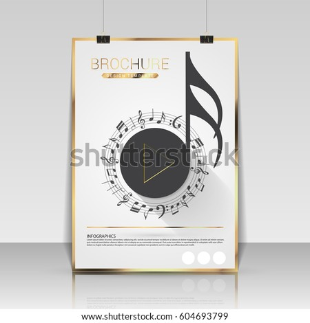 music brochure cover design