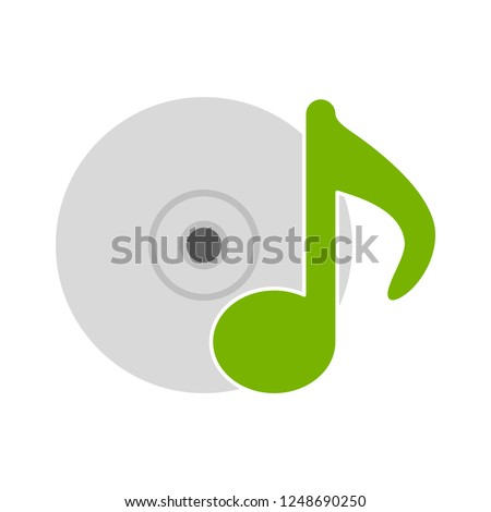 music cd icon - Sound Music icons set - audio sign and symbols, vector Music icons