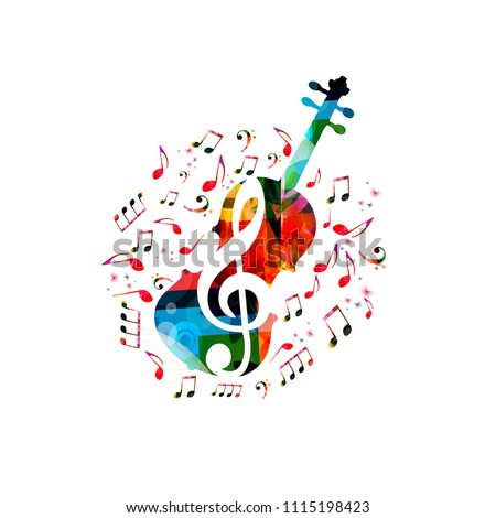 music colorful background with