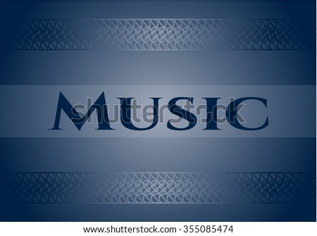 Music colorful card